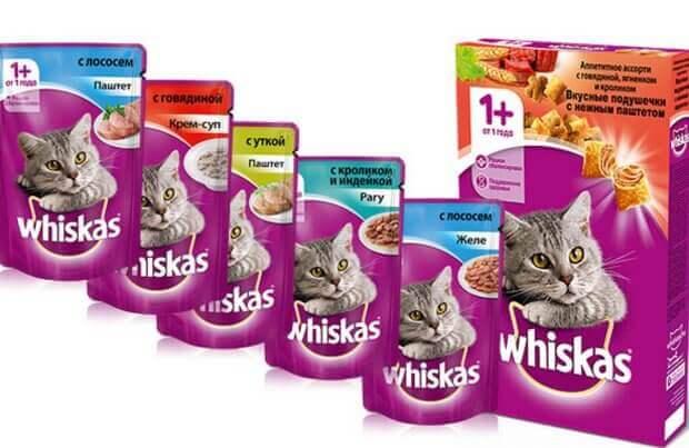 Whiskas корм