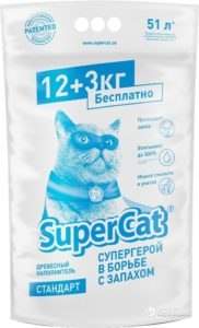 Наповнювач туалетів Super Cat для котів стандарт