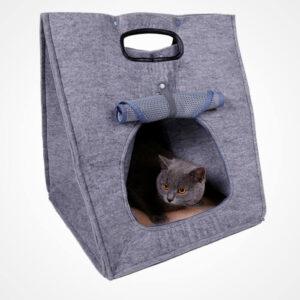 Фетровий будиночок-переноскадля котів HEBEI