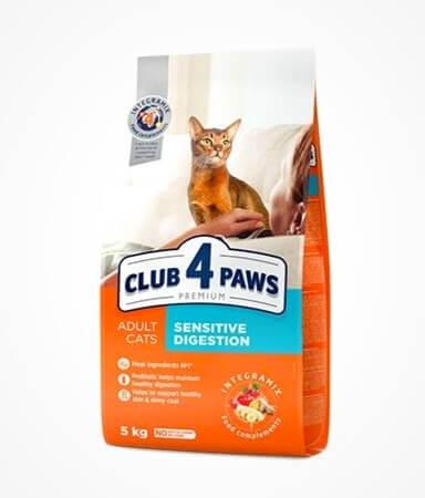 корм 4 лапы для кошек с чувствительным пищеварением