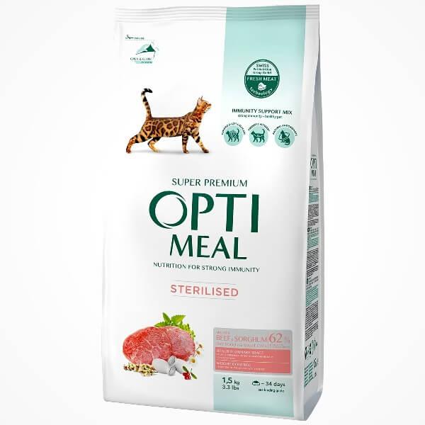 состава сухого корма Optimeal с говядиной и сорго
